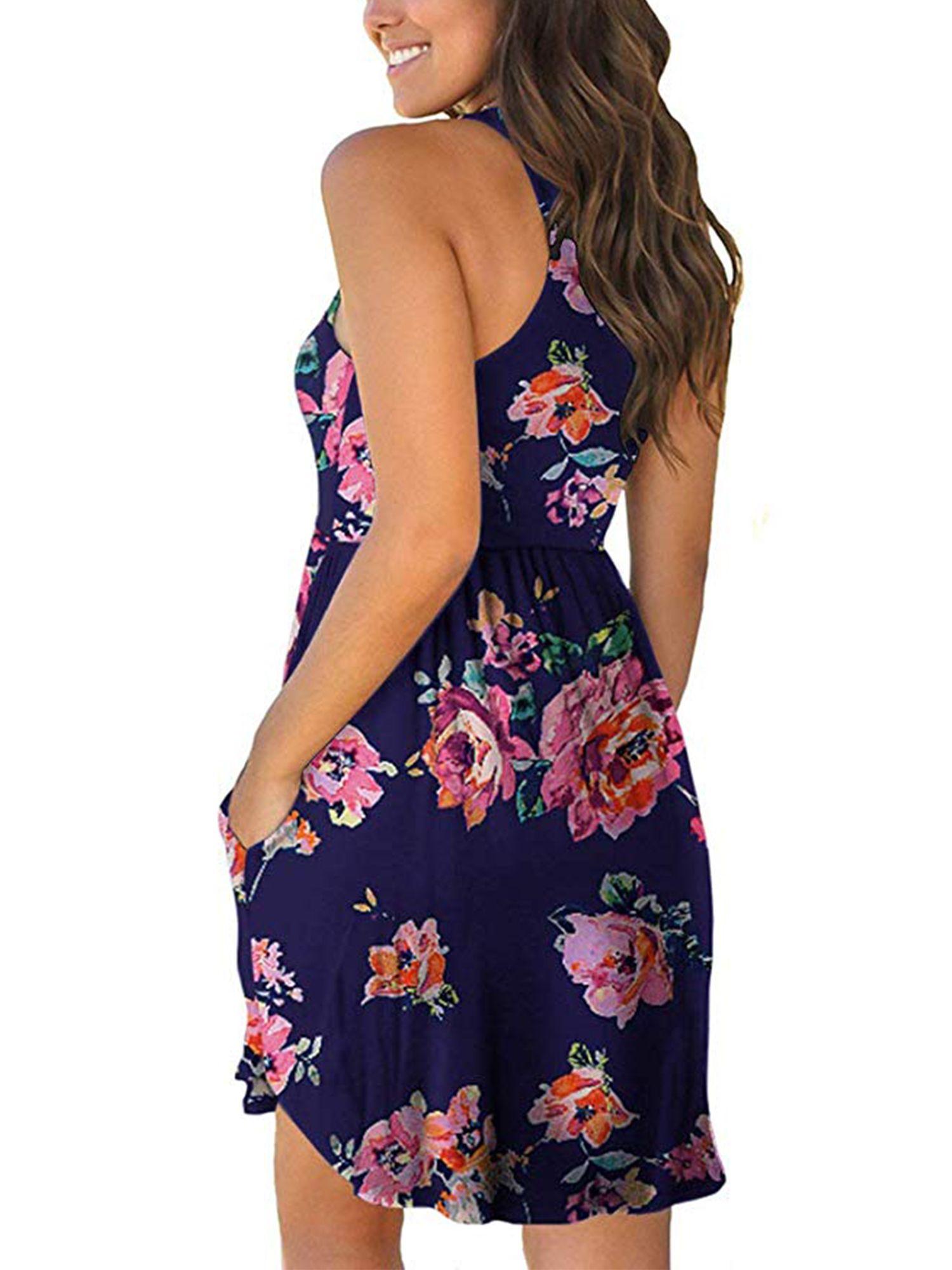Womens Dress Summer Holiday Casual Sleeveless Irregular Dress Mini Dress Beach Tank Dress Party Dresses Sundresses