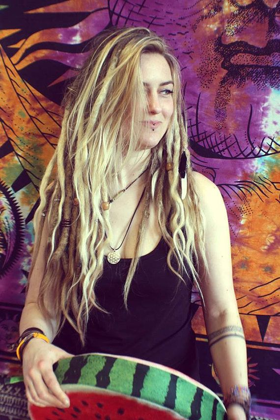 40 Human Hair Dreadlocks Extensions With Loose Ends By Ravinglocks