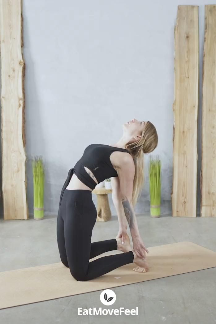 Rücken Flexibility  Dehnung Motivations Frau challenge übung zuhause Abnehmen Sport