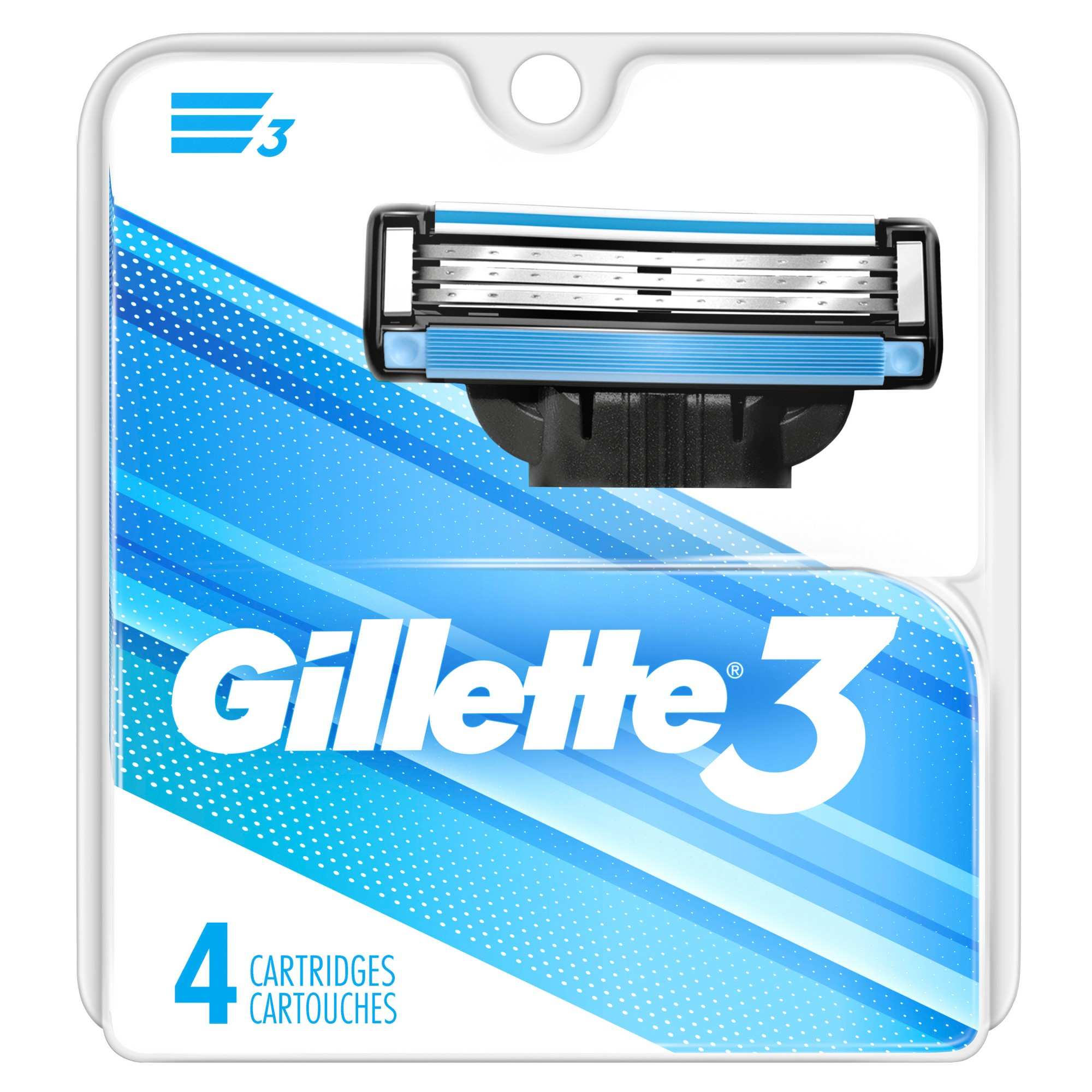 Gillette 3 Blade Men's Razor Blade Refills - 4ct in 2019