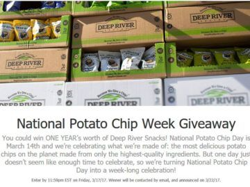 Deep River Snacks National Potato Chip Week Giveaway Sweepstakes