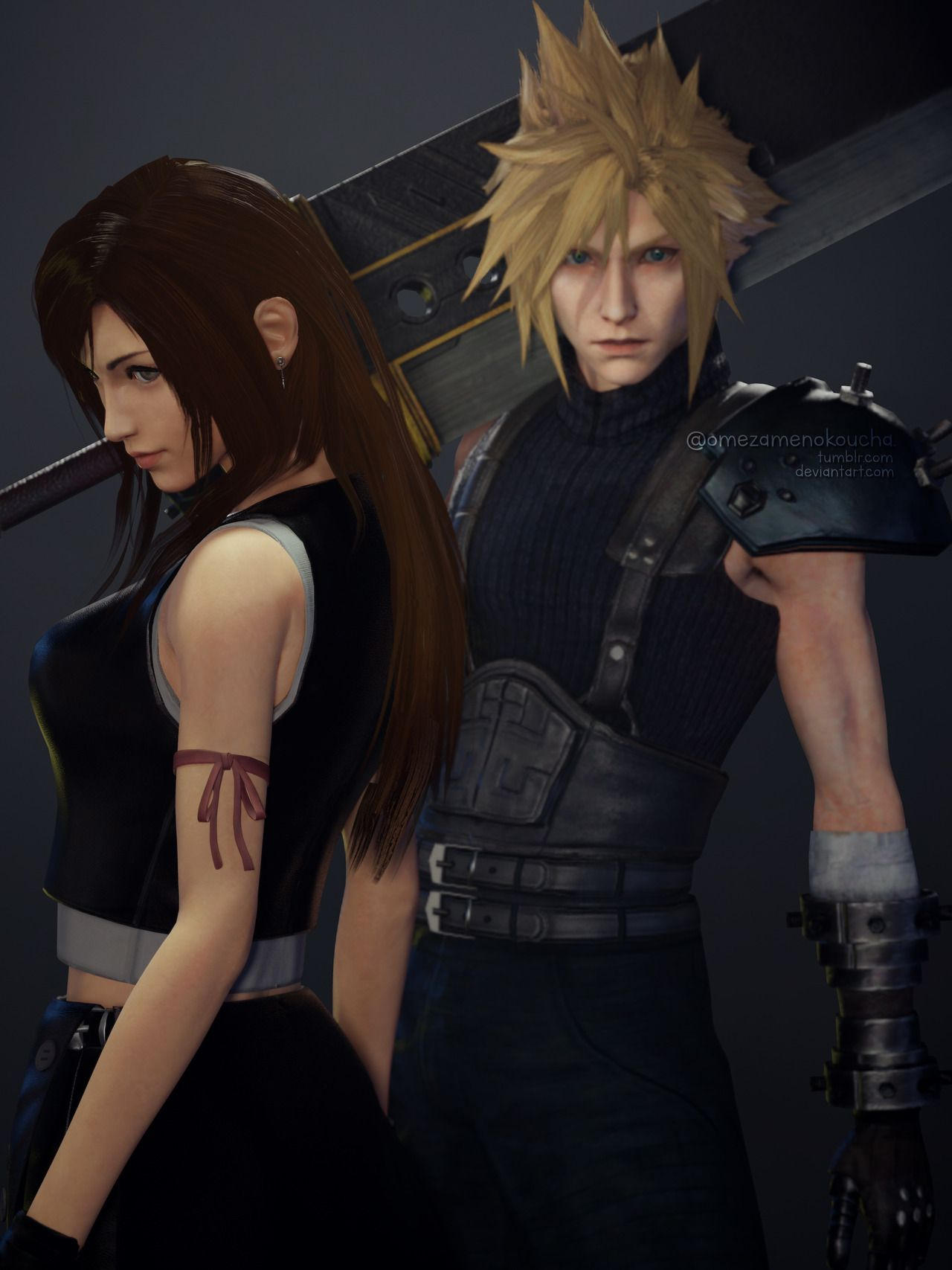 Cloud Strife And Tifa Lockhart From Mobius Final Fantasy