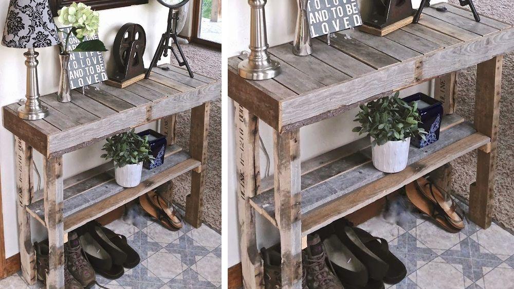 30 meubles faire avec des palettes consoles - Meubles fait avec des palettes ...