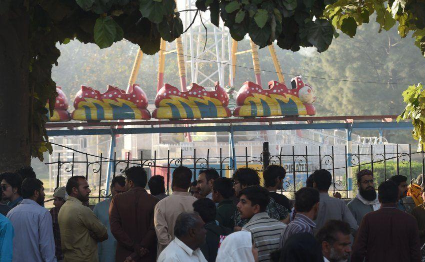 Viele christliche Familien feierten in dem Park das Osterfest.