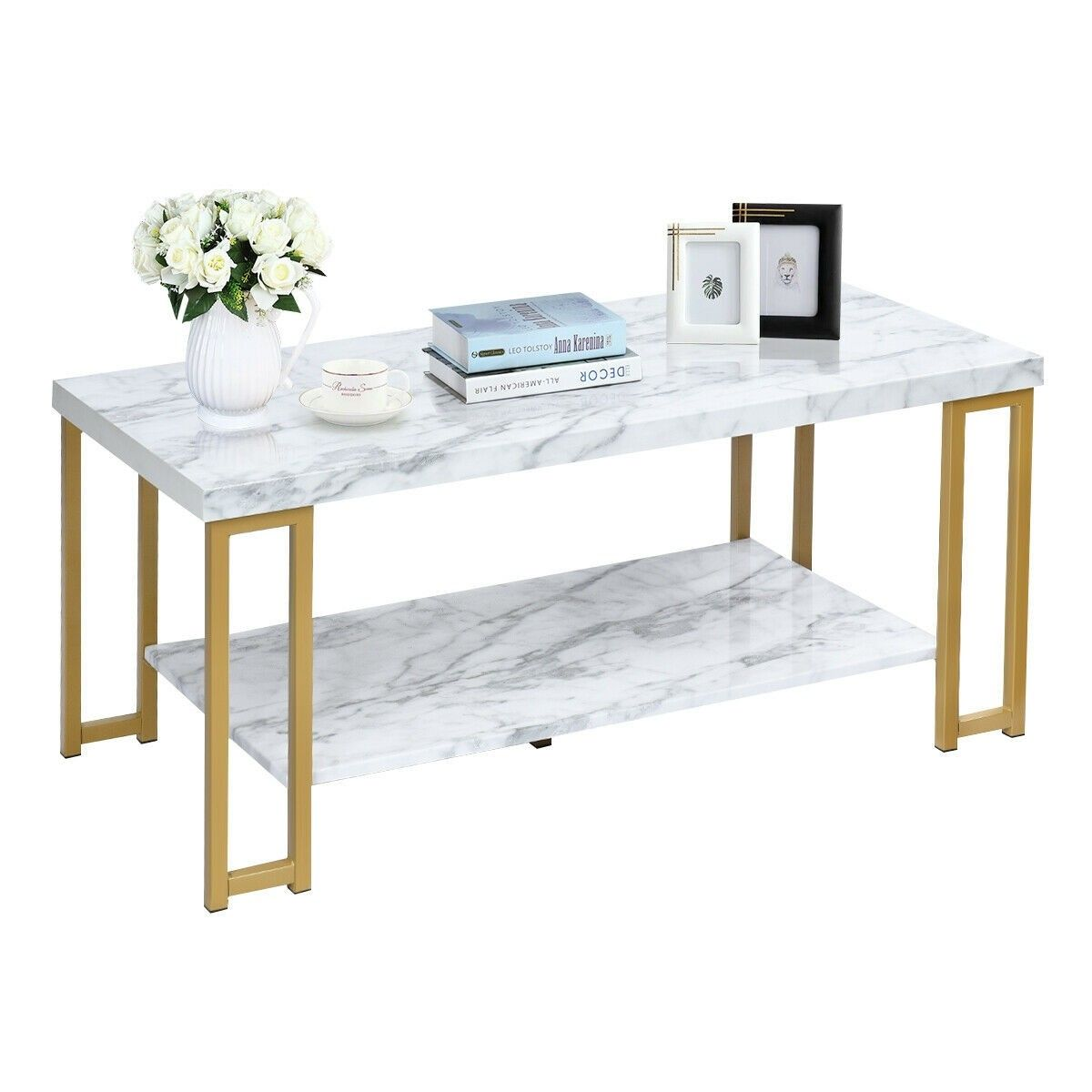 2tier modern coffee table rectangular with images