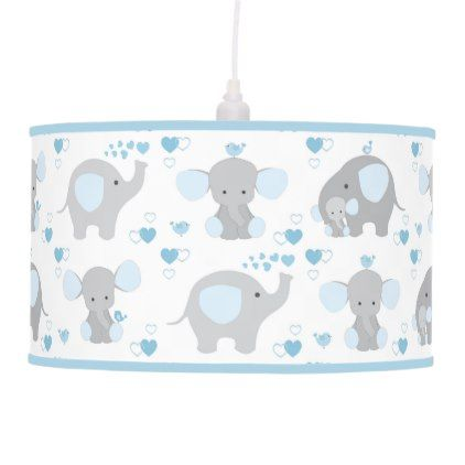Elephant blue gray safari animals nursery baby boy hanging lamp elephant blue gray safari animals nursery baby boy hanging lamp newborn baby gift idea diy negle Images