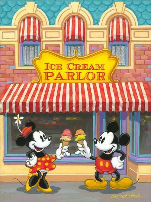Image via We Heart It https://weheartit.com/entry/136420900 #background #disney #mickey #minnie #mouse #wallpaper #icecrean #fondo