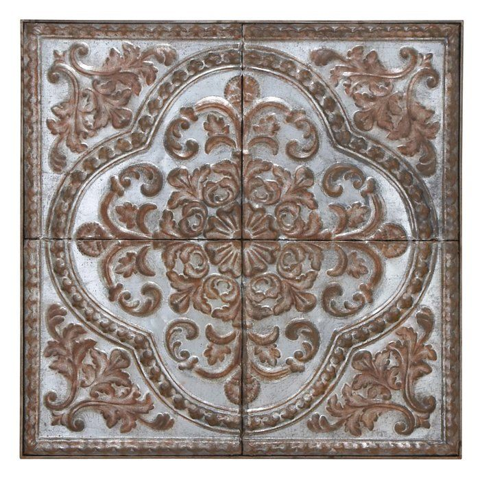 Pairing Clic Style With Artful Eal This Metal Wall Decor Showcases An Ornate Fern And
