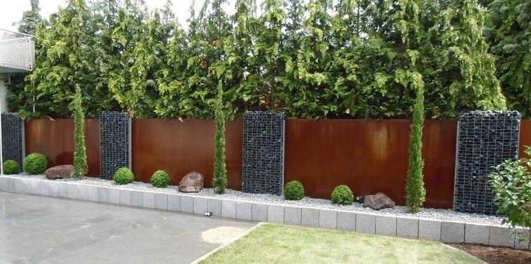 Pareti Divisorie Da Giardino In Acciaio Corten Belle Di Design E