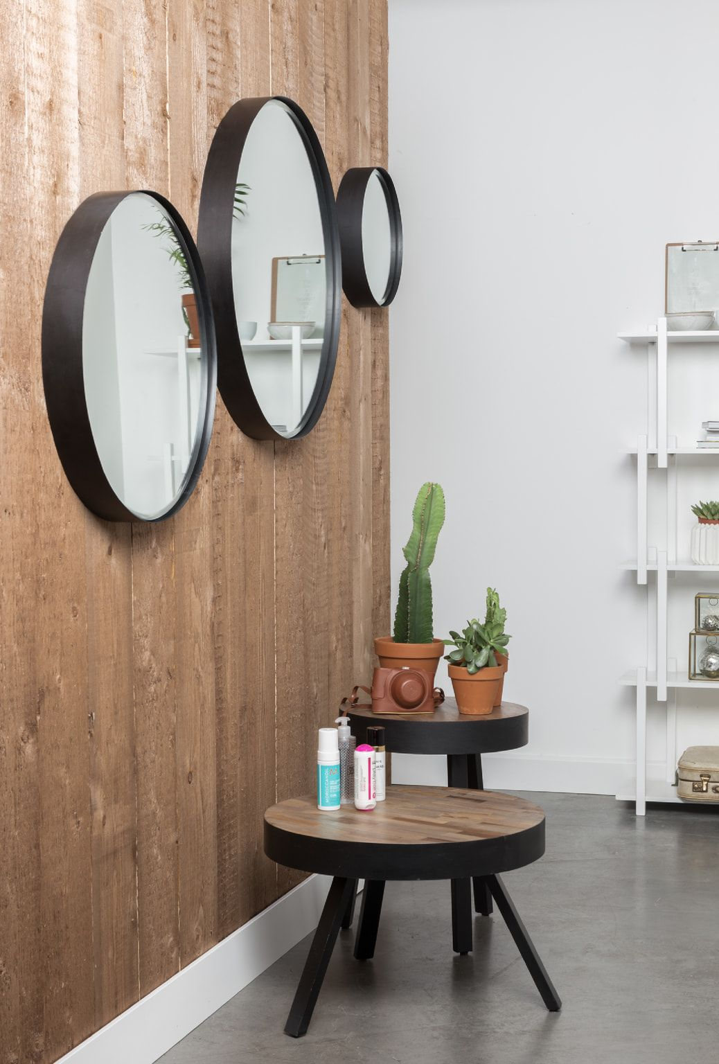 Uitgelezene ZILT Ronde Spiegel 'Sal' zwart metaal | Ronde spiegels, Moderne UU-41