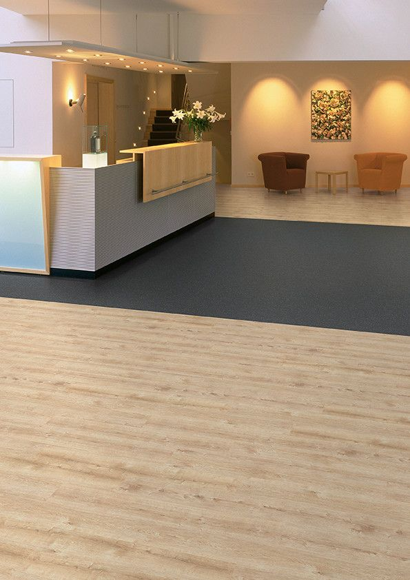 Office Reception Area Featuring Affinity255 Champagne Oak
