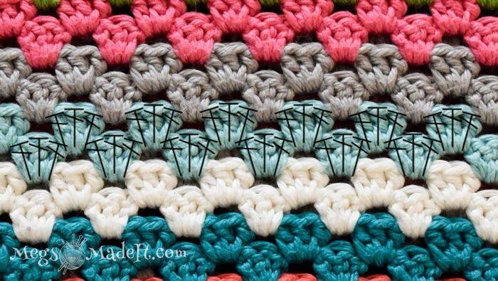 Granny Stripe Blanket With Pattern Granny Square Pattern