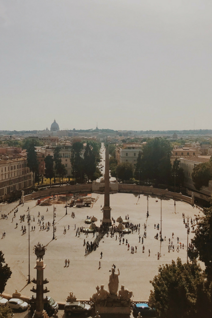 The Amazing Panoramic View From Terrazza Del Pincio In Rome