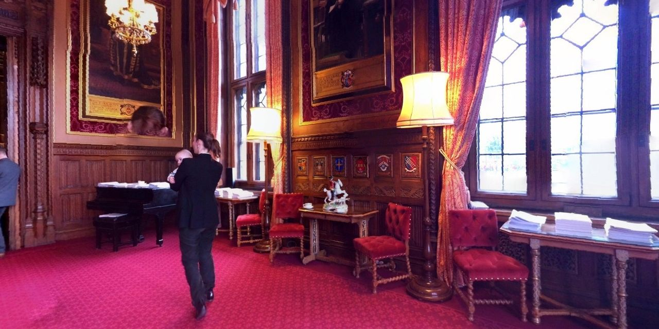 The first reception room of three that form Speakers House