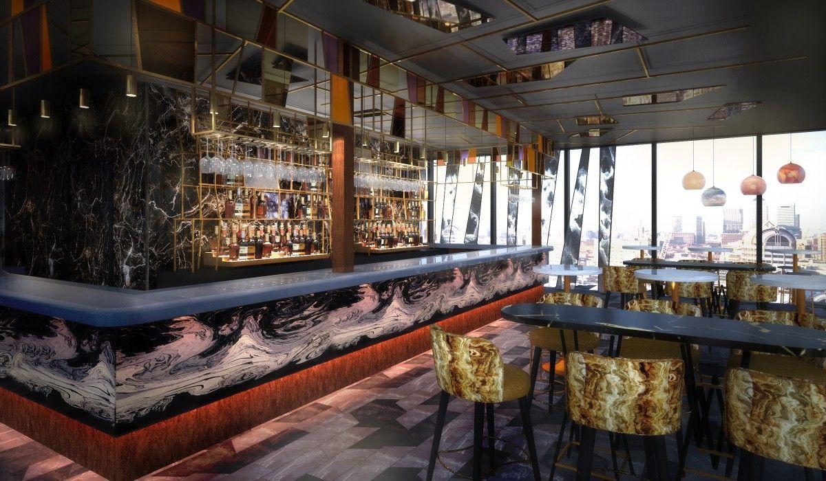 Savage Garden Bar Cgi In 2020 Hilton Hotel London London Hotels