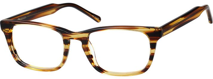 Order online, unisex brown full rim acetate/plastic rectangle eyeglass frames model #4415415. Visit Zenni Optical today to browse our collection of glasses and sunglasses.