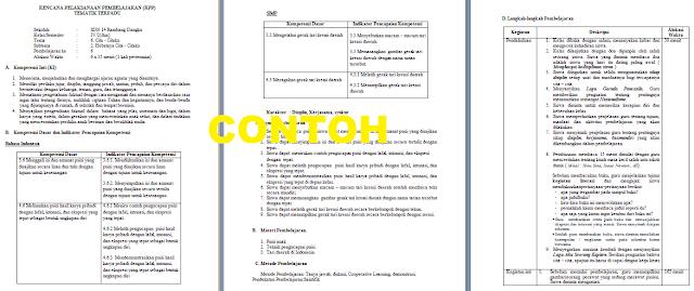 Contoh Format Rpp K13 Revisi 2017