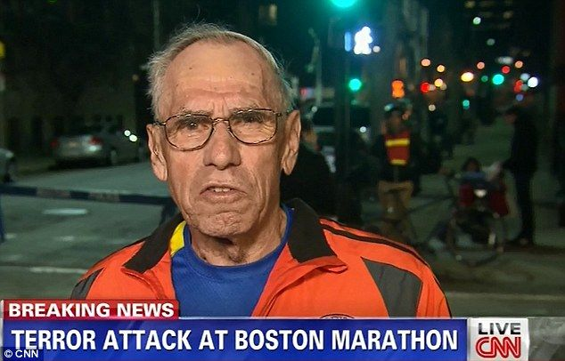 Runner, 78, who became the face of the Boston attacks after he was caught on camera being knocked off his feet reveals how his legs turned to 'noodles'… but he managed to finish the race