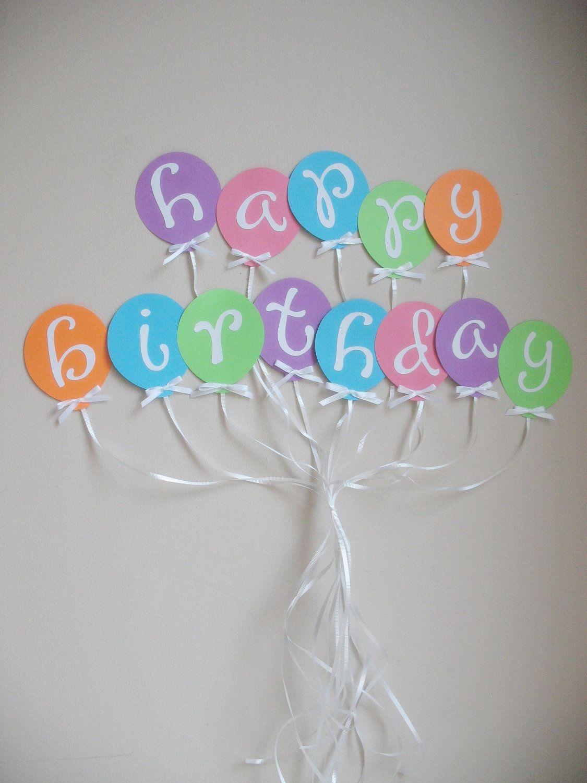 Balloon Happy Birthday Banner