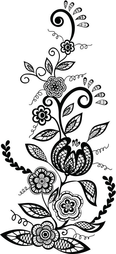 Plantillas De Tatuajes De Enredaderas 03 Jpg 401 874 Tatuaje De Enredadera Flores Para Dibujar Plantillas De Tatuajes