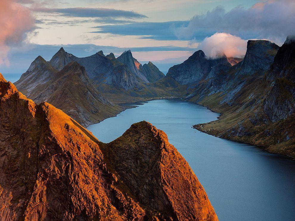 Picture of Kirkefjorden in the Lofoten Islands, Norway