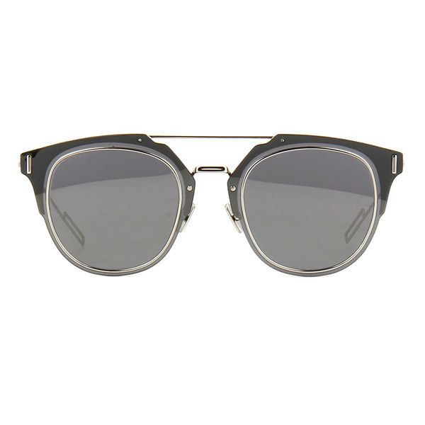 Dior Composit 1.0 0100T ❤ liked on Polyvore featuring accessories, eyewear, sunglasses, glasses e sunnies