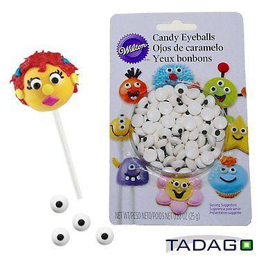 Wilton-Candy-Eyeballs-Zuckeraugen-56Stk-Tiere-Monster-Cupcake-CAKE-POPS