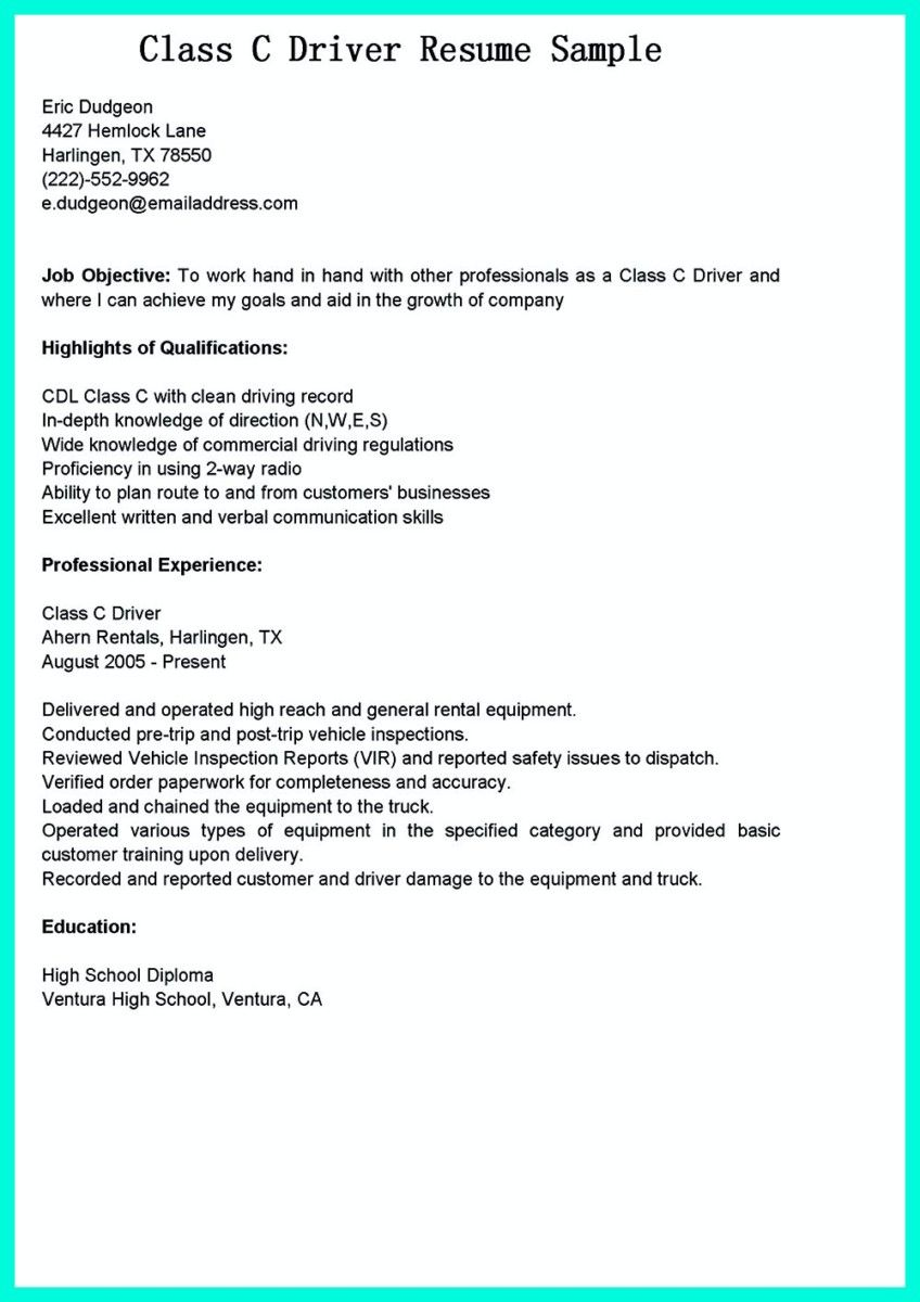awesome simple but serious mistake in making cdl driver resume