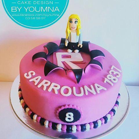 Roblox Cake With Sarrounas Favorite Own Custom Made Virtual Char