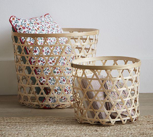 Panier Ajoute Bamboo Zodio Panier Bamboo Decoration Millefiori Tendance Panier En Bambou Panier Panier Rangement