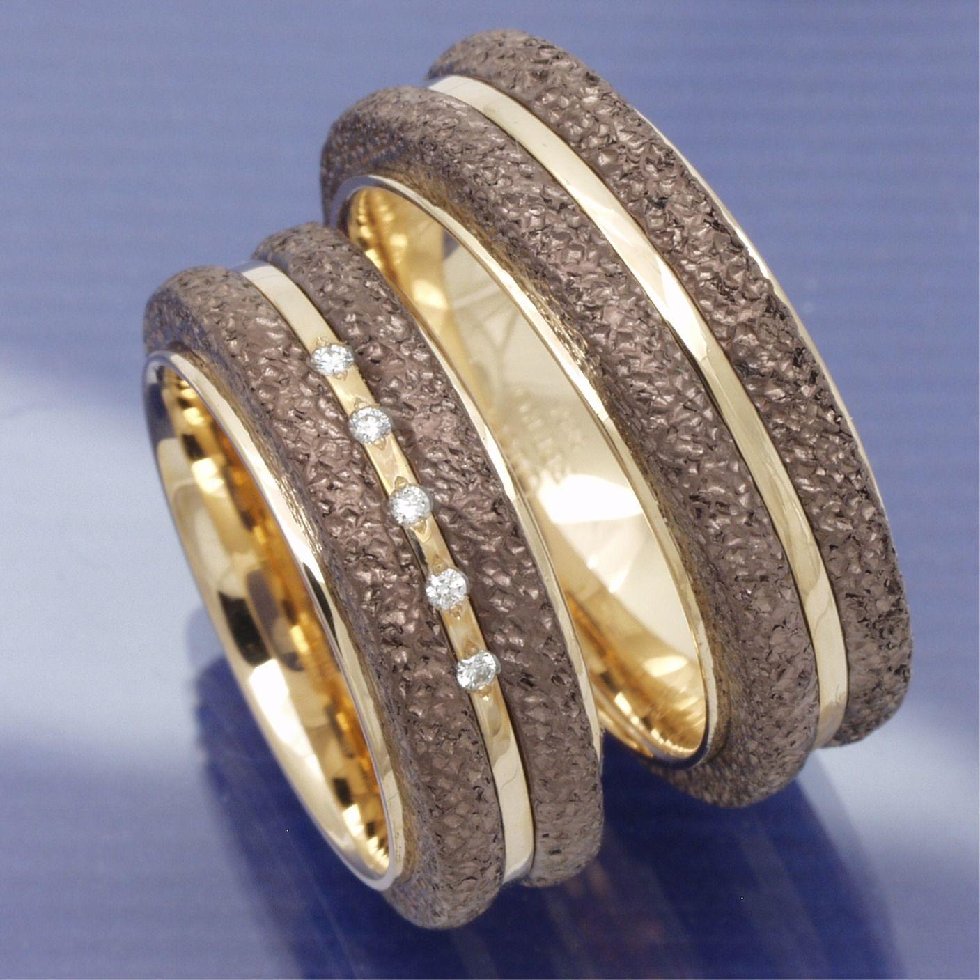 Trauringe Gold und Eisen P