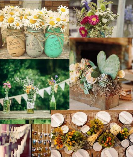 Recipientes reciclados para decorar una boda macetas for Ideas para decorar macetas