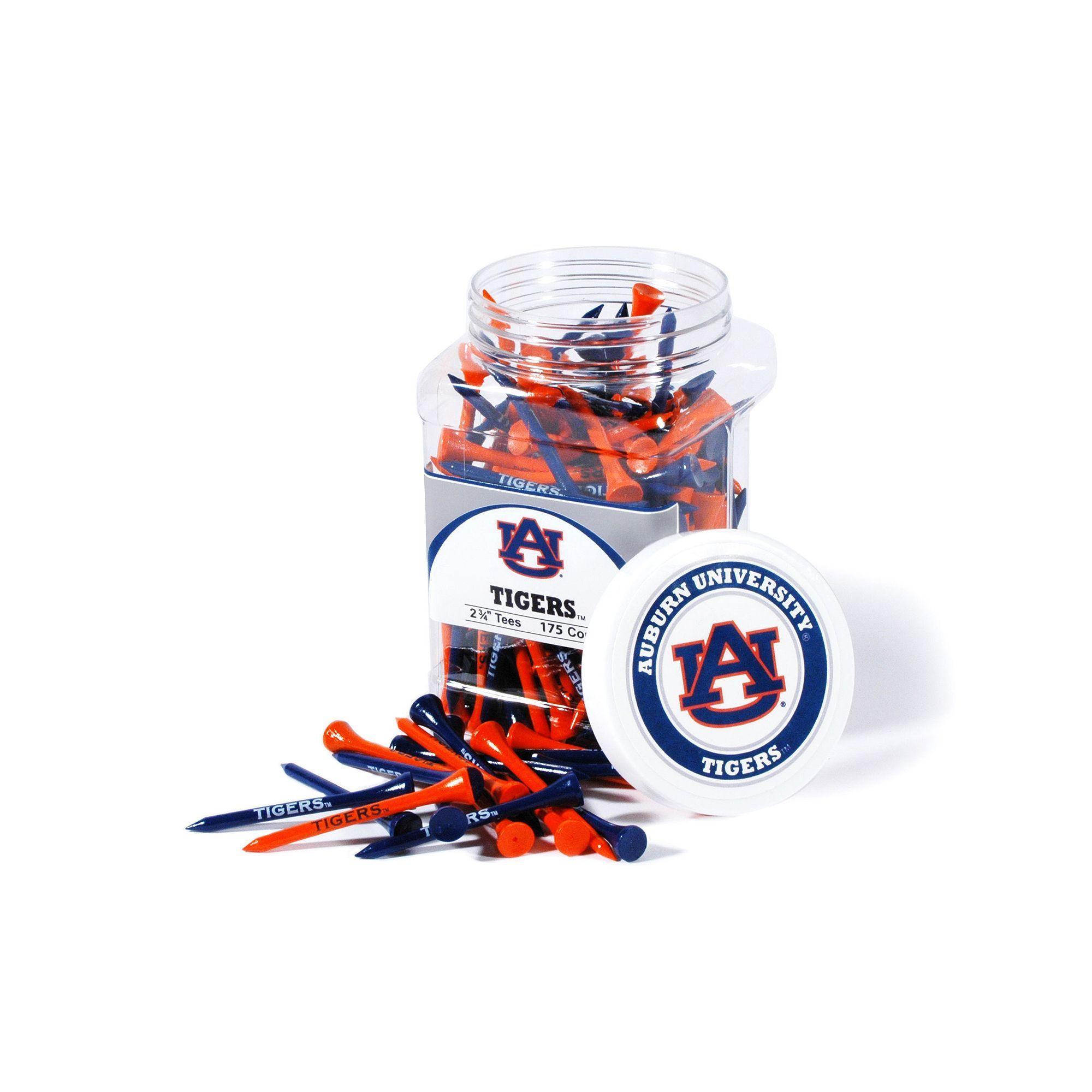 Team Golf Auburn Tigers 175ct. Golf Tee Jar, Multicolor