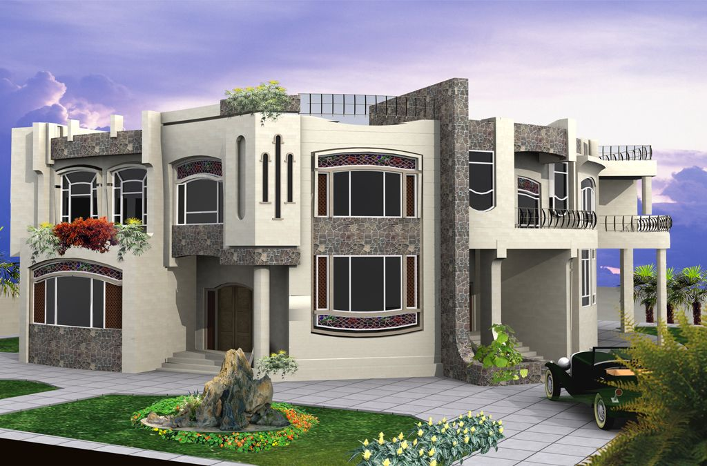 Modern residential villas designs dubai see more http for Contemporary villa plans