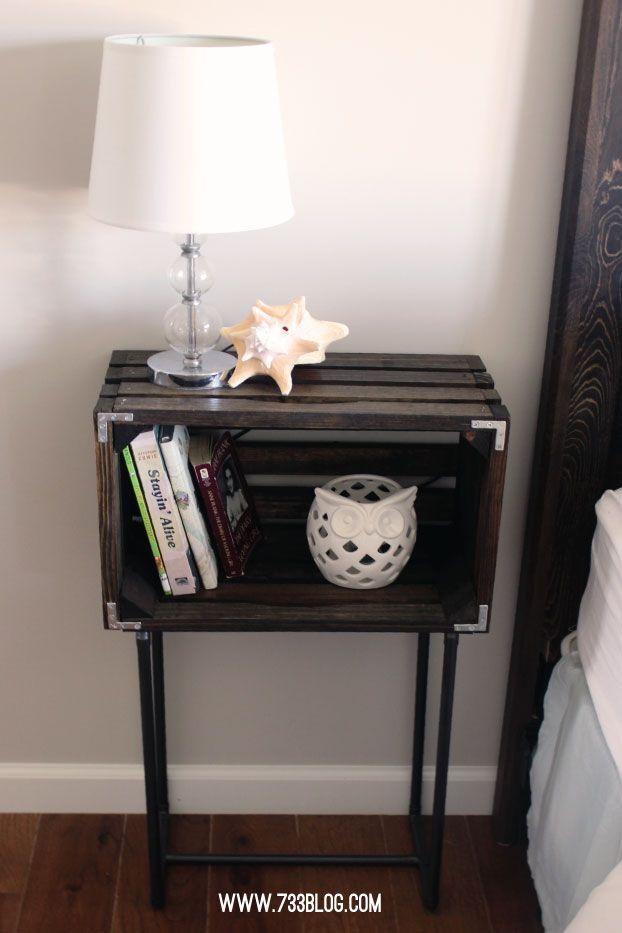 DIY Crate Nightstands