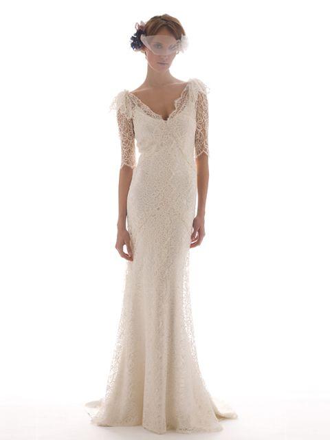 vestido de novia media manga con encaje | vestidos | vestidos de