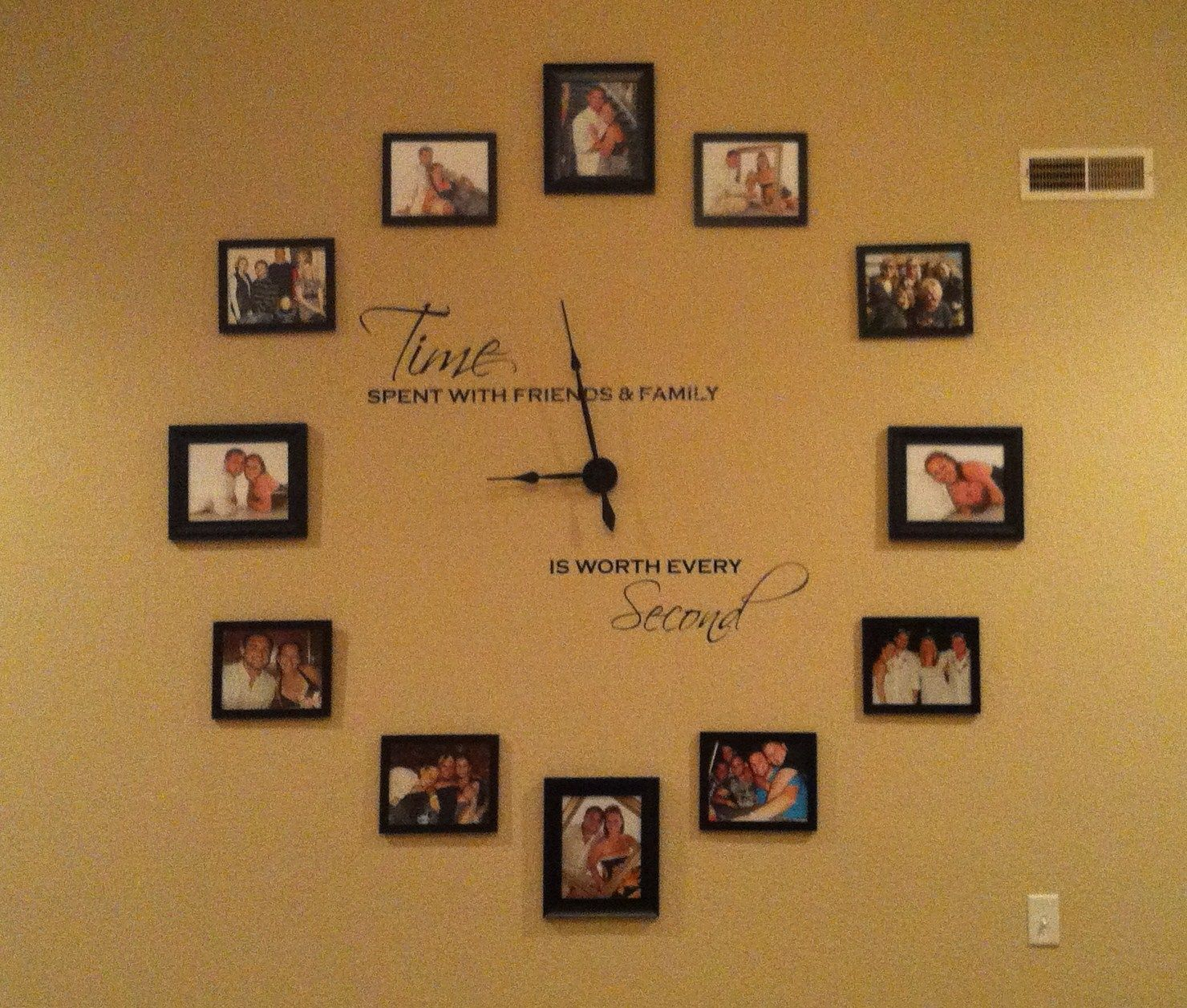 My Wall Clock is Finished!!! Wall Clock Kit from Hobby Lobby! Words ...