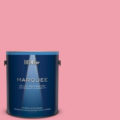 Behr Marquee 1 Gal 120b 5 Candy Coated Satin Enamel Interior Paint Primer 745401 The Home Depot Behr Marquee Interior Paint Behr Marquee Paint