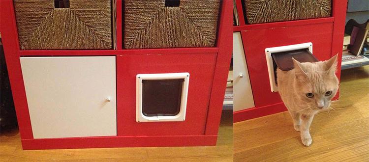 retrouvez cette semaine des ikea hacks destin s aux chats et aux chiens cats pinterest. Black Bedroom Furniture Sets. Home Design Ideas