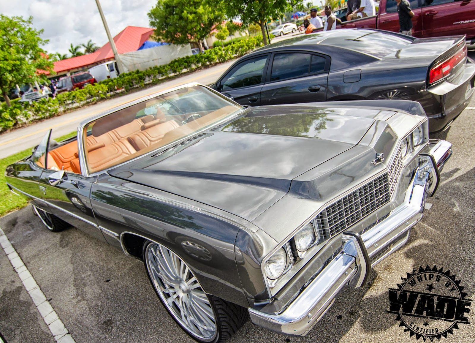 Whips by wade grey 1973 chevrolet caprice on 26 cor wheels