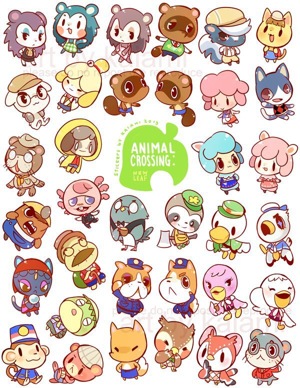 Personajes De Ancl Dibujos Bonitos Dibujos Kawaii Animal Crossing