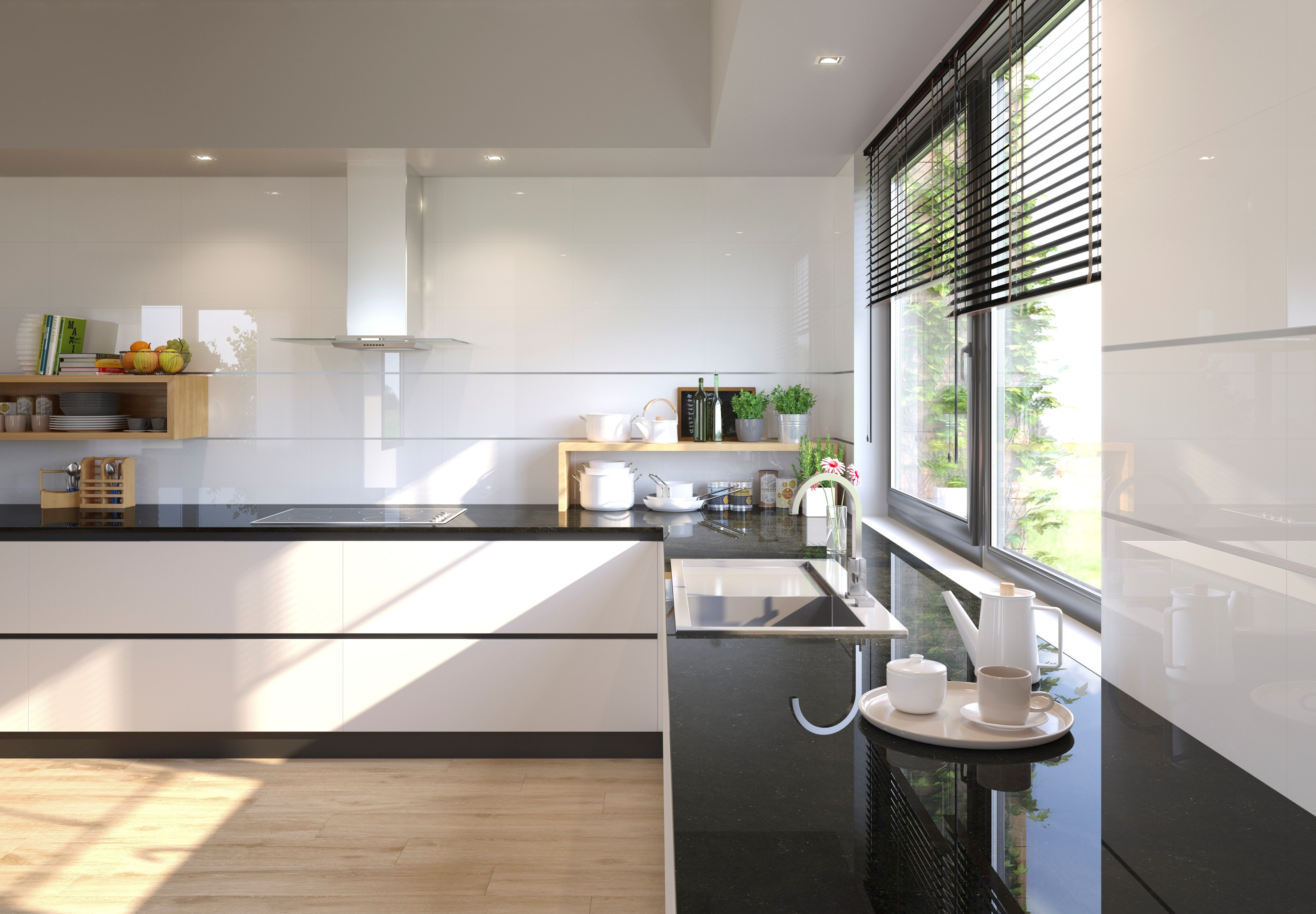 high gloss white wall tiles from minoli baikal blanco share the reflective aesthetic as their on kitchen interior tiles id=79448