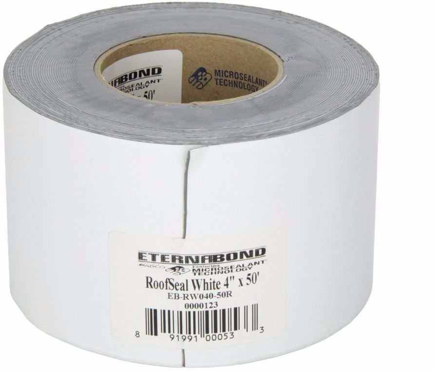 White Roof RV Camper Seal Repair Patch Tape Travel Trailer