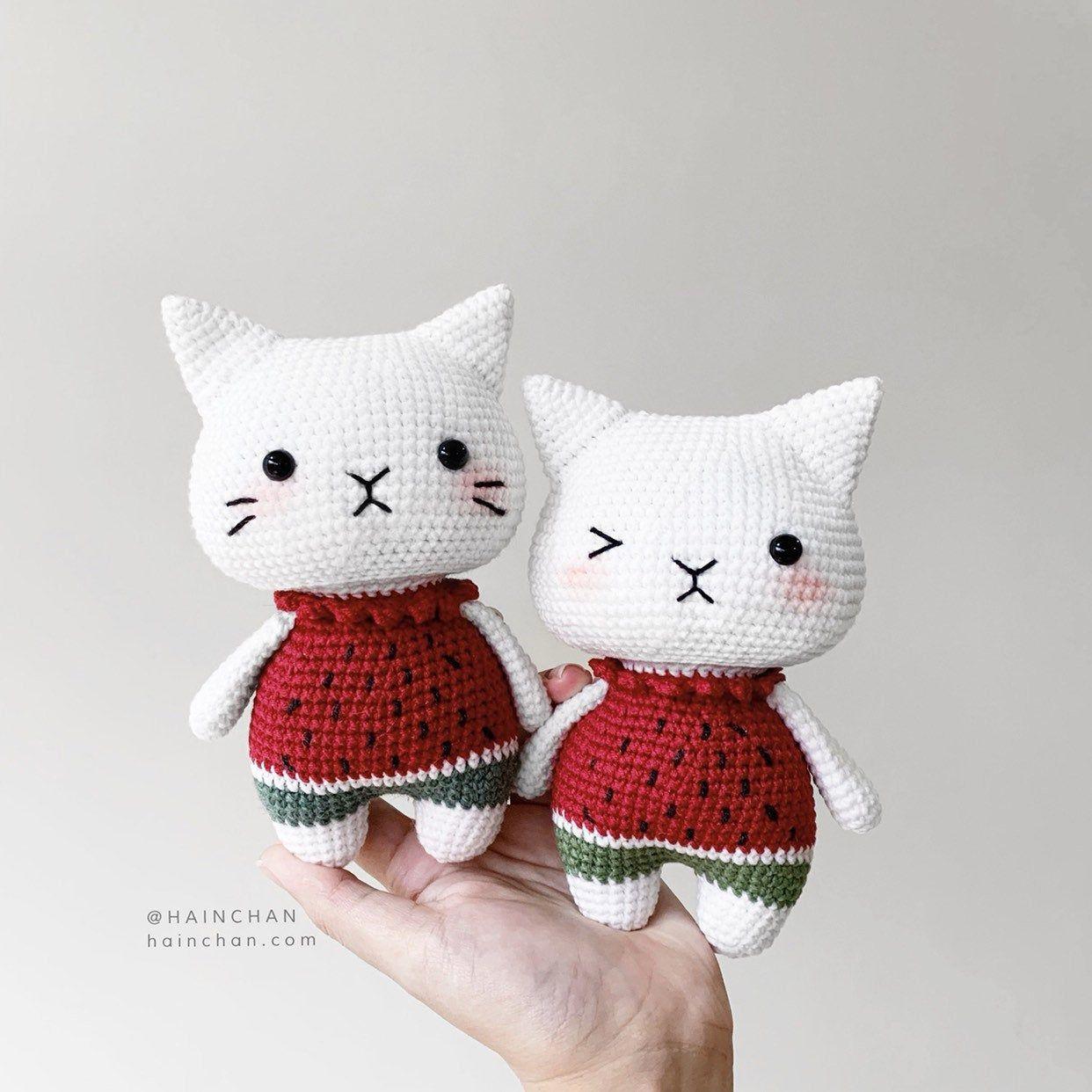 Suika The Little Cat Crochet PDF pattern instant download