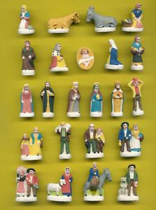 Santons Creche Feves Brillantes Alpilles Christmas Vignettes Nativity Set Nativity