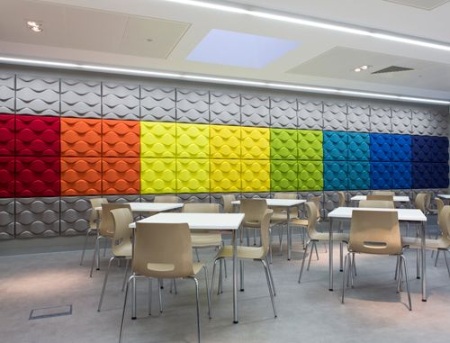 Office meeting and cafeteria design for tvha in london Multipurpose room design ideas