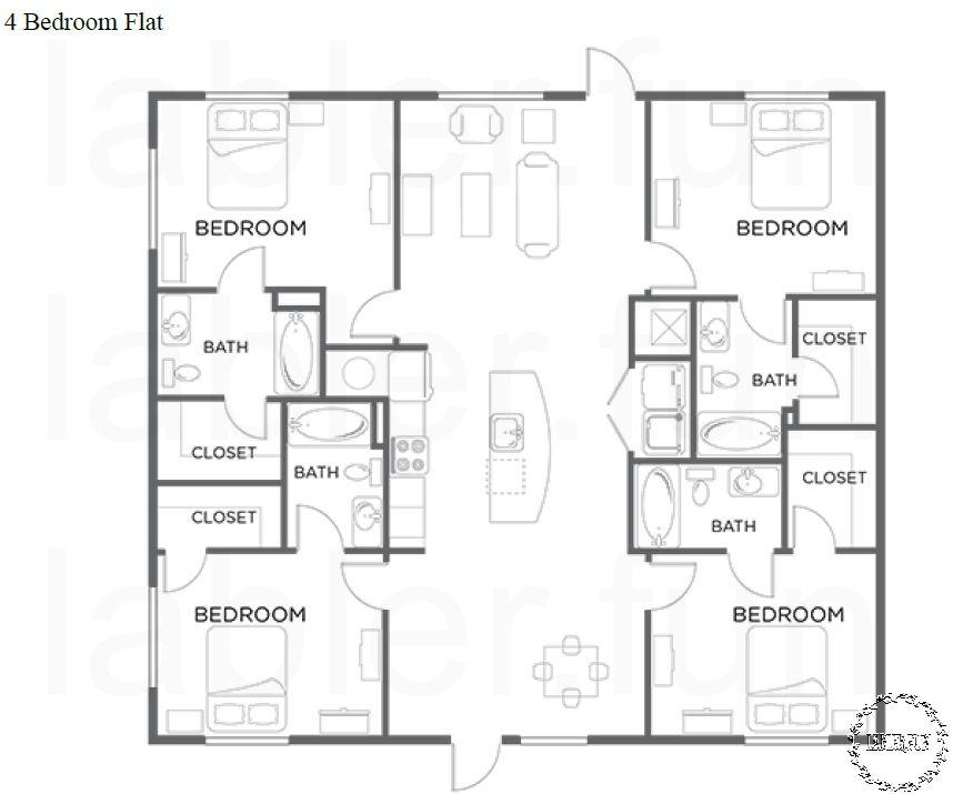 Open Concept 4 Bedroom Ranch Floor Plans Apartment Floor Plans Floor Plans Bedroom Floor Plans