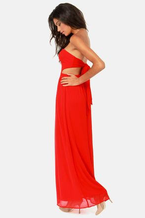 Strapless Red dress . Vestido rojo bonito # largo