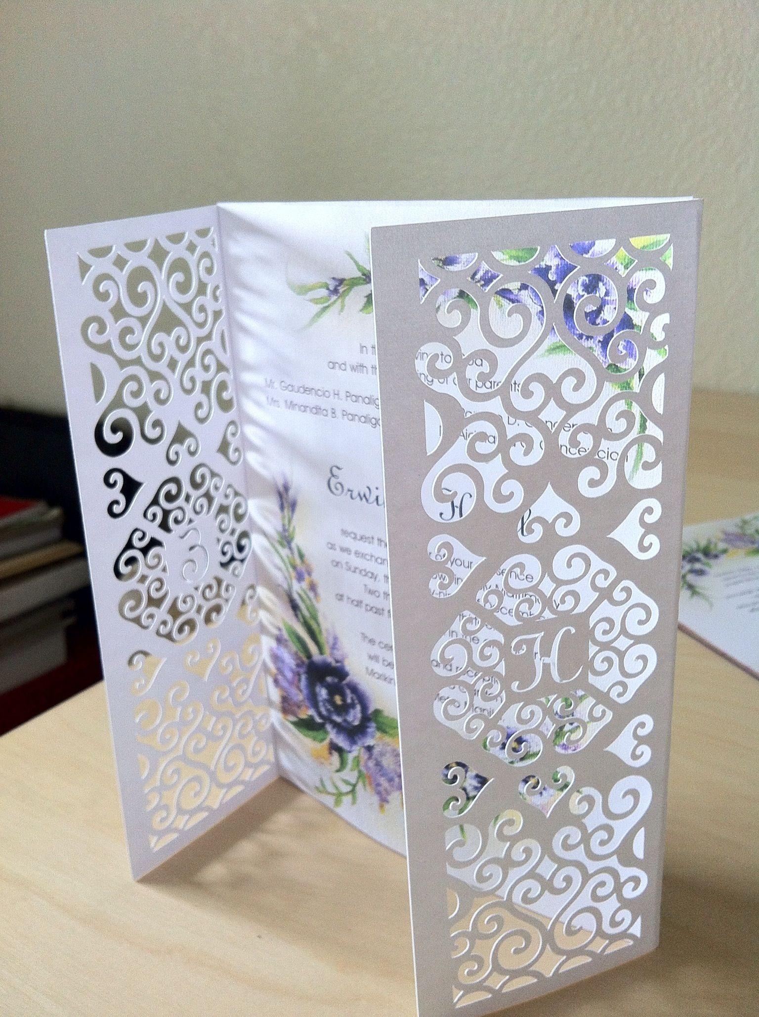 diy #wedding #invitation. Gatefold was designed and cut using my ...