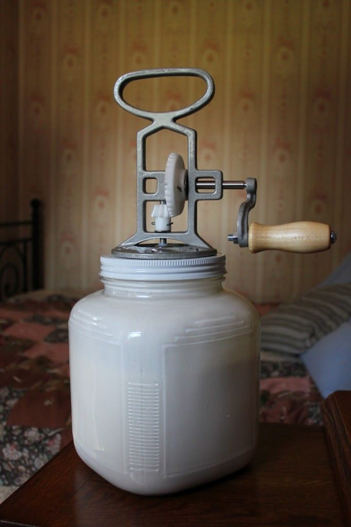 So, I've been eyeing an old butter churn at my local antique shop... This might just make me get it!
